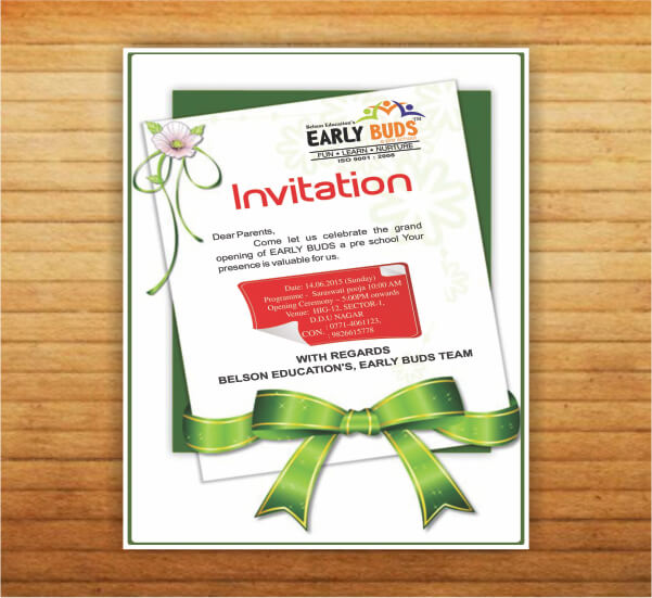 Creative Invitation design of Early Buds