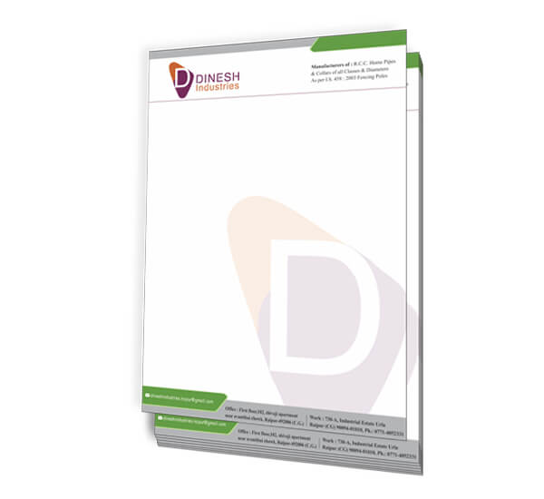 Letterhead of Dinesh Industries