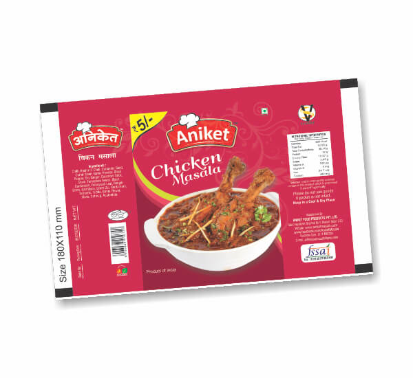 Packaging of Aniket Masala