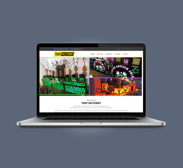 Web Design of Tent Factorry