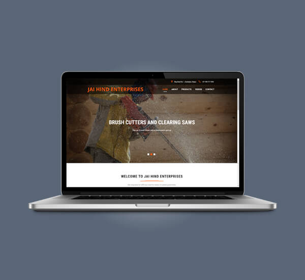 Web Design of Jai Hind Enterprises